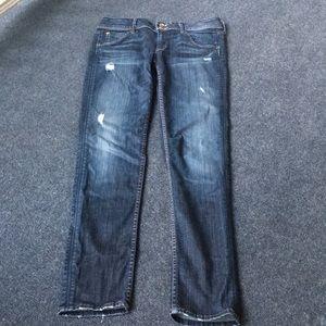 Hudson blue jeans.